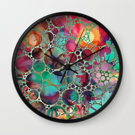 Dots on Painted Background 6 Wall Clock