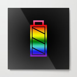 Fully Charged Pride Battery Graphic Metal Print