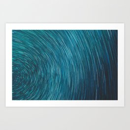 Abstract blue starry sky Art Print