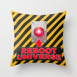 Reboot Universe Button Throw Pillow