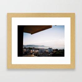 A Niçoise view. Framed Art Print