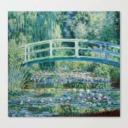 1899-Claude Monet-Water Lilies and Japanese Bridge Canvas Print