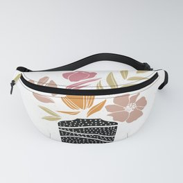 Bouquet of Flowers Illustration Fanny Pack