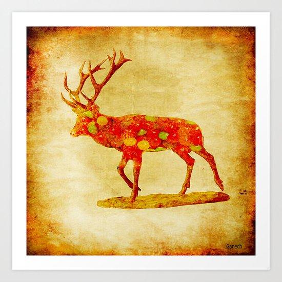 The deer candy Art Print