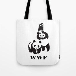 panda wrestling Tote Bag