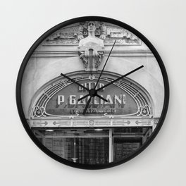 Traditionnal Tuscany Shop in Lucca Italy Wall Clock
