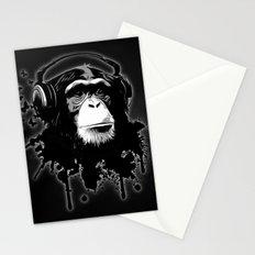 Monkey Business - Black Stationery Cards
