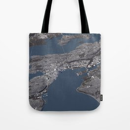 Seattle City Map II Tote Bag