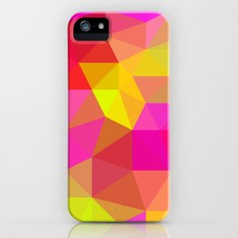 Citrus Candy Low Poly iPhone Case