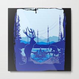 Alaska Portrait Metal Print