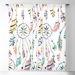 White Dreamcatcher Blackout Curtain