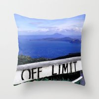 philippines Throw Pillows featuring OFF LIMIT (Philippines) by Julie Maxwell