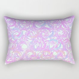 Purple Crescents Rectangular Pillow