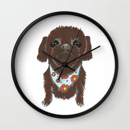 Pedicure Puppy Wall Clock