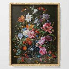 Vase of Flowers II Jan Davidsz de Heem Serving Tray