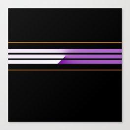 TEAM COLORS 5....Orange,purple Canvas Print