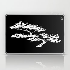 Bonzai Tree Reversed on Black Background Laptop & iPad Skin