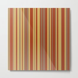 Fall Stripes Metal Print