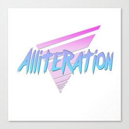 Alliteration Canvas Print