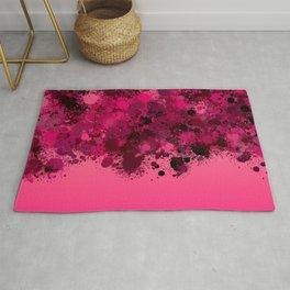 paint splatter on gradient pattern mag Rug