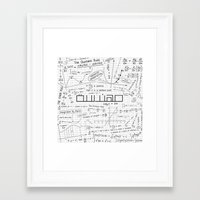 engineer Framed Art Prints featuring white engineer by Be Raza