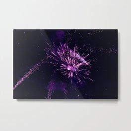 Fireworks purple Metal Print