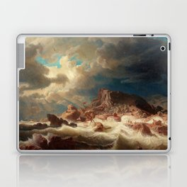 Marcus Larson - Stormy Sea With Ship Wreck Laptop & iPad Skin