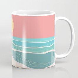 Crashing wave on sunny bay Coffee Mug