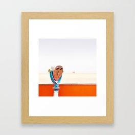Beach Boardwalk / Santa Cruz California Framed Art Print