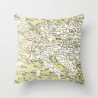 europe Throw Pillows featuring 1938 Europe by inourgardentoo