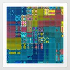 Deco Fractal Art Print