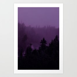 Purple Fog Art Print