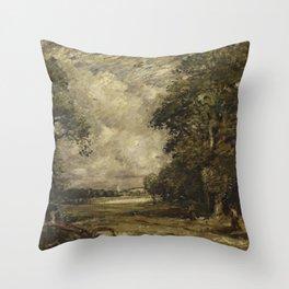 English-landscape by David Thomson Muirhead Throw Pillow