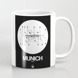 Munich White Subway Map Coffee Mug