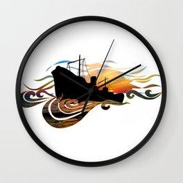 The Intimate Stranger (Greek Ship) Wall Clock