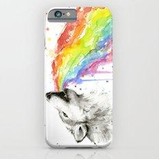 Wolf Rainbow Watercolor Animal iPhone 6s Slim Case