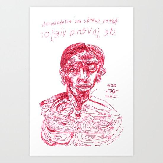 de joven a viejo Art Print