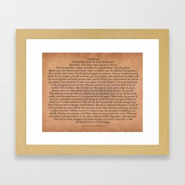 Inspirational Typography Wall Art, Antique Style, Desiderata Poem by Max Ehrmann Framed Art Print