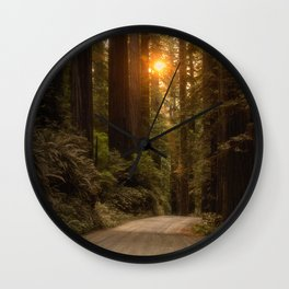 Sunrise in the Redwoods Wall Clock