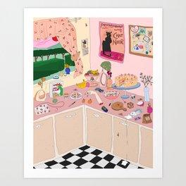 Someboy else's kitchen Art Print