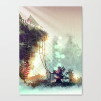 uncharted Canvas Prints featuring Uncharted by Zomby Robin