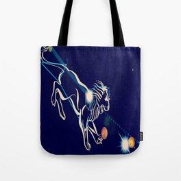 Leo in the night sky Tote Bag