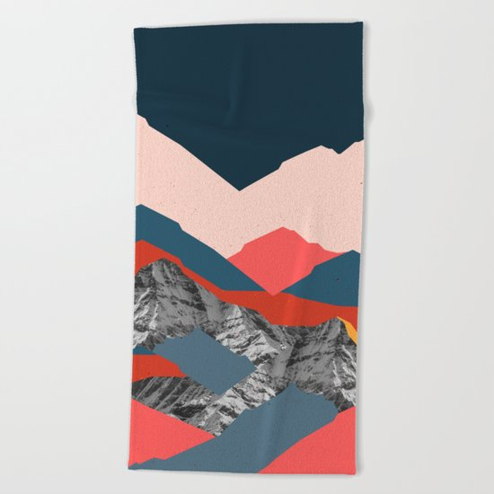 Graphic Mountains X Beach Towel