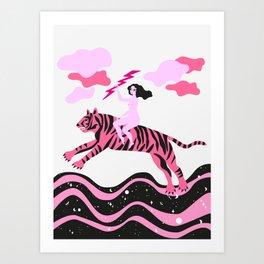 girls save the world Art Print