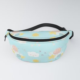 Sleepy Dreams Moon and Stars Pattern Fanny Pack