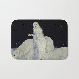 """""""The Snow Queen"""" Fairy Tale Art by Edmund Dulac Bath Mat"""