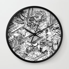 ARUP Fantasy Architecture Wall Clock