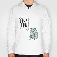 hamster Hoodies featuring Foul Hamster by jess moorhouse