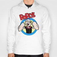 popeye Hoodies featuring Popeye by idaspark