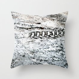 Sno Trak Throw Pillow